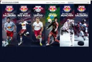 Wer zu Rasenballsport Leipzig will, landet immer erstmal bei Red-Bull (Screenshot der Leipziger Startseite)