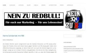 """Initiative """"NEIN zu RB"""". Ablehnung von außen. Die gibt es auch an einigen Stellen von """"innen"""". (Screenshot Webseite www.nein-zu-rb.de)"""