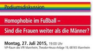 Homophobie im Fußball - sind die Frauen weiter als die Männer? (Quelle VfR Mannheim)