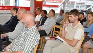 Leider nur wenige Zuhörer - aber interessiert und kritisch (Quelle VfR Mannheim)