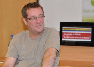 Führte durch die Veranstaltung, Freier Journalist Robert Bode (Quelle VfR Mannheim)