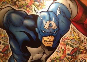 Dominieren in der Ausstellung. Action Heroes wie Captain America... (©mg)