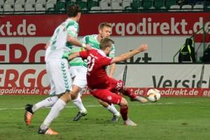 Knoten geplatzt, Kacper Przybylko markiert das 1:2 (www.der-betze-brennt.de)