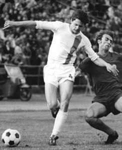 """Der spätere FCK- und Eintracht-Spieler Lutz Eigendorf, hier vor seiner """"Republikflucht"""" in den 70er Jahren in Diensten des BFC Dynamo."""