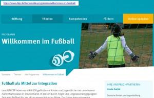 """""""Willkommen im Fußball"""": Stiftungsfinanzierte Chancen für Flüchtlingskinder"""