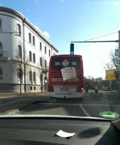 Dem Bus hinterher - auswärtsfahrt Braunschweig (©mg)