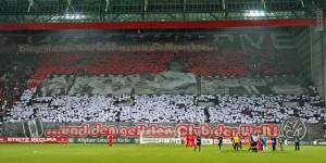 Hommage der fans an Norbert Thines, Choreographie am 13.12.2013 (Foto: www.der-betze-brennt.de)