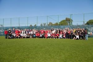 Gruppenbild Mannschaft und Fans, Trainingslager Belek 2015