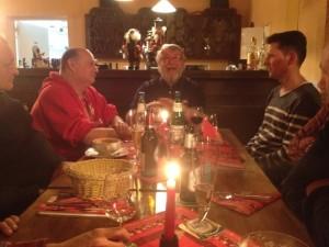 Bei Udo Scholz, mit Udo Scholz. Weihnachtsfeier (©mg)