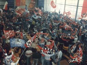 Gemeinsam feiern in der Fanhalle-Nord (Foto: 1.FC Kaiserslautern)