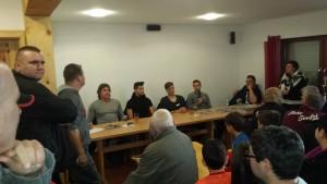 Gerry Ehrmann, Antonio Colak, Erik Ekesser und Chris Löwe stellten sich in Waldsee den Fragen der Fans (Foto: Initiative Leidenschaft)