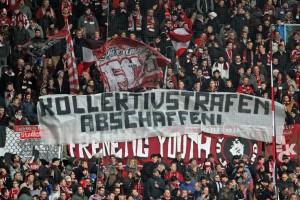 Kollektivstrafen abschaffen - Fanprotest beim Heimspiel gegen Union November 2013 (Foto: www.der-betze-brennt.de)
