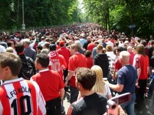 Andrang vor dem denkwürdigen Spiel gegen Köln im Mai 2008 (Foto: Queer Devils)