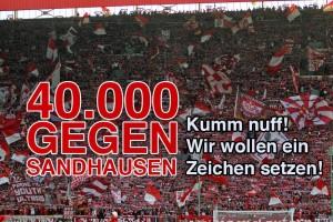 Aufruf zum Spiel gegen den SV Sandhausen