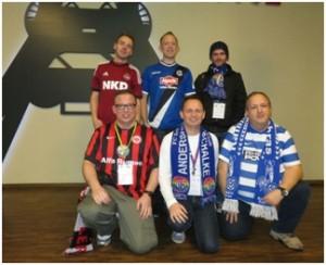 Ein Teil der Extra-Time-Redaktion; Daniel, Sven, Andre (hinten), Simon, Michael, Frank (vorne)