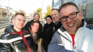Die Arbeitsgruppe mit Daniel, Graham, Andre, Karin, Sven, Simon (v.l.); Jens fehlt auf dem Bild