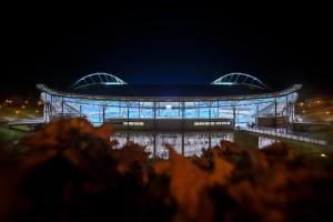 Das aktuelle Stadion der Leipziger; für mehr als 100 Mio Euro zur WM-Arena umgebaut (Foto: RB Leipzig; motivio/Thomas Eisenhuth)