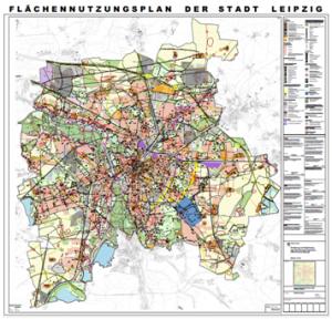 Der aktualisierte neue Flächennutzungsplan  (FNP) der Stadt Leipzig (Grafik: Stadt Leipzig)