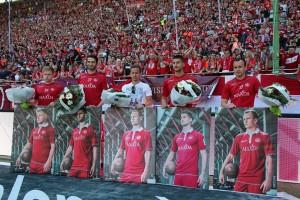 Verließen den FCK am Saisonende; v.l., Jean Zimmer, Markus Karl, Chris Löw, Antoni Colak, André Formitschow (Foto: www.der-betze-brennt.de)