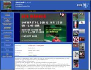 Vorstufe zum Fanclub, die 2006 entstandene Queer-Devils Kontakt-Plattform im Internetportal Planetromeo (Bild: qd)