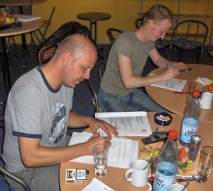 Auch Gründungsmitglieder. Langjährige Vorstandsmitglieder und Webspezialisten Mark und Matze (Foto: qd)