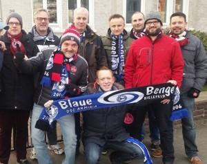 Bengel pflegen auch die Freundschaft zum FCN (Foto: Blaue Bengel)