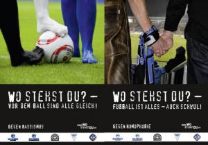 """Kampagne """"Wo stehst Du"""" thematisierte 2011 auch Homophobie (Foto: www.wostehst du.deBlaue Bengel)"""