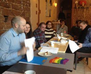 Rege Diskussionen in Trier am vergangenen Sonntag (Foto: mg)