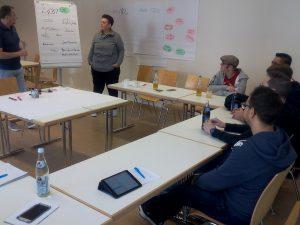 Workshop-Arbeit mit Dirk und Karin vom QFF-Sprecherrat
