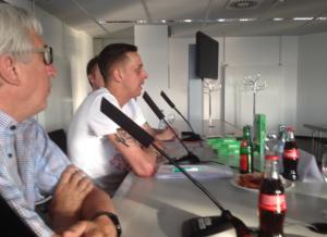 FCK-Pressesprecher Stefan Roßkopf gab tiefe Einblicke in das Engagement des Vereins (Foto:mg)