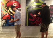 Zwei Künstler in Action, Daniel Ferino, Alex Schmidt (Foto: mg)