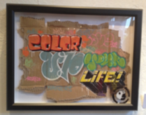Motto der Ausstellung in Worms, color up your life (Foto: mg)