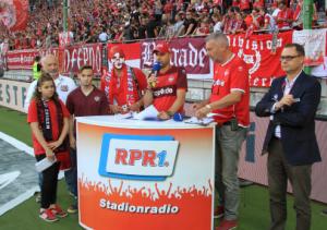 Die stolzen Sieger des Torwandschießens beim Stadionfest (Foto: Thomas Füssler)