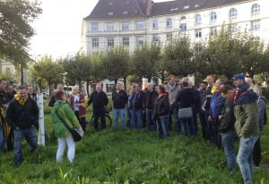 Borsigplatz - schwarz-gelbe Anekdoten auf grüner Wiese (Foto: mg)