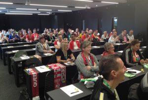 Gut gefüllt, der neue Presseraum der Borussia (Foto: mg)