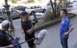 Michael Zeising bei den Dreharbeiten (Foto: Exilfans, Ferne Liebe)
