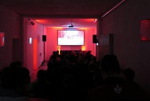 """Fast volle Kartoffelhalle am letzten Freitag, Kinoabend mit """"Ferne Liebe"""" (Foto: Fanprojekt Kaiserslautern)"""