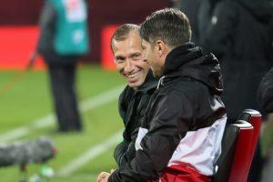Endlich auch mal Grund zur Freude, Jeff Strasser und Alexander Bugera (Foto: www.der-betze-brennt.de)