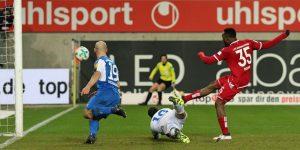 Der Mann des Tages eiskalt, Osayamen Osawe trifft zum 3:1 (Foto: www.der-betze-brennt.de)