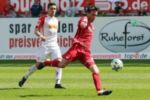 Verletzt ausgewechselt, Christoph Moritz (Foto: www.der-betze-brennt.de)
