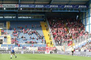 Rund 1.200 Fans hatten den FCK gestern begleitet (Foto: www.der-betze-brennt.de)