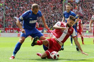 Hatte in der ersten Halbzeit eine gute Möglichkeit, Lukas Spalvis (Foto: www.der-betze-brennt.de)