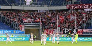 Mehr als 1.500 Lauterer Fans unterstützten die Mannschaft gestern in Duisburg (Foto: www.der-betze-brennt.de)