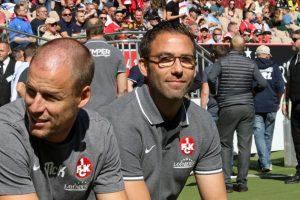 Das neue Trainergespann. Co Kevin McKenna und Cheftrainer Boris Schommers (Foto: www.der-betze-brennt.de)