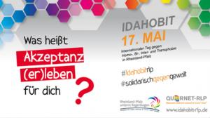 Motto des IDAHOBIT 2020 in Rheinland-Pfalz (Bild: QueerNet-RLP)