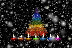 candles-christmas-snow-colorful-rainbow-rainbow-colors-festival-candlelight-light